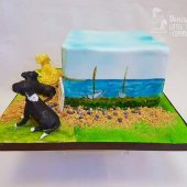 HAND-PAINTED-BEACH-THEME-CAKE