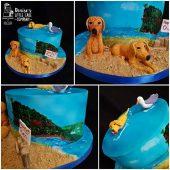 HANDPAINTED-DOG-BEACH-CAKE