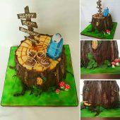 Tree-stump-cake